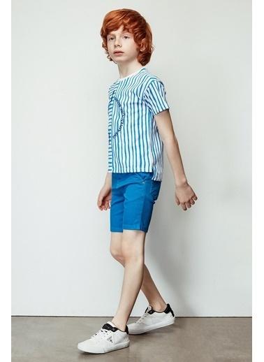 Nebbati Erkek Çocuk Mavi Şort 19SS2NB3148 Mavi